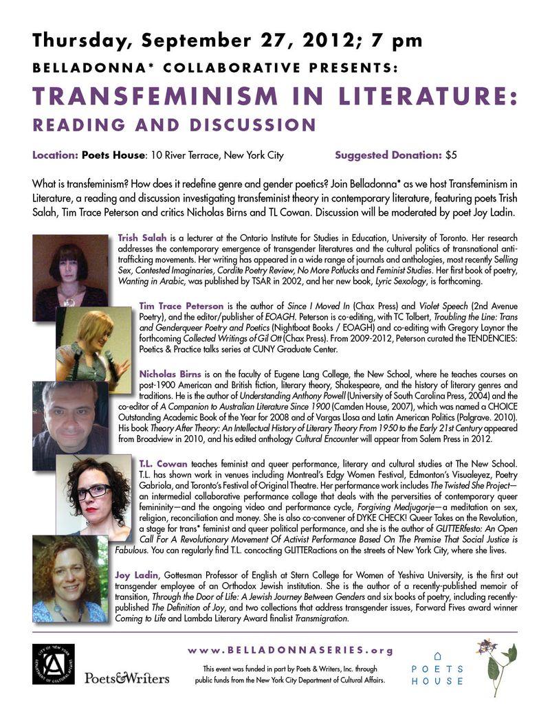 Sept 2012 Transfeminism Flier